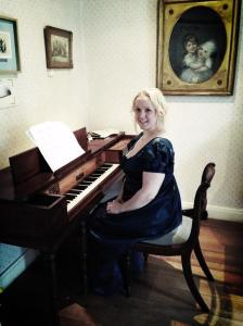 At the Jane Austin House with the square piano